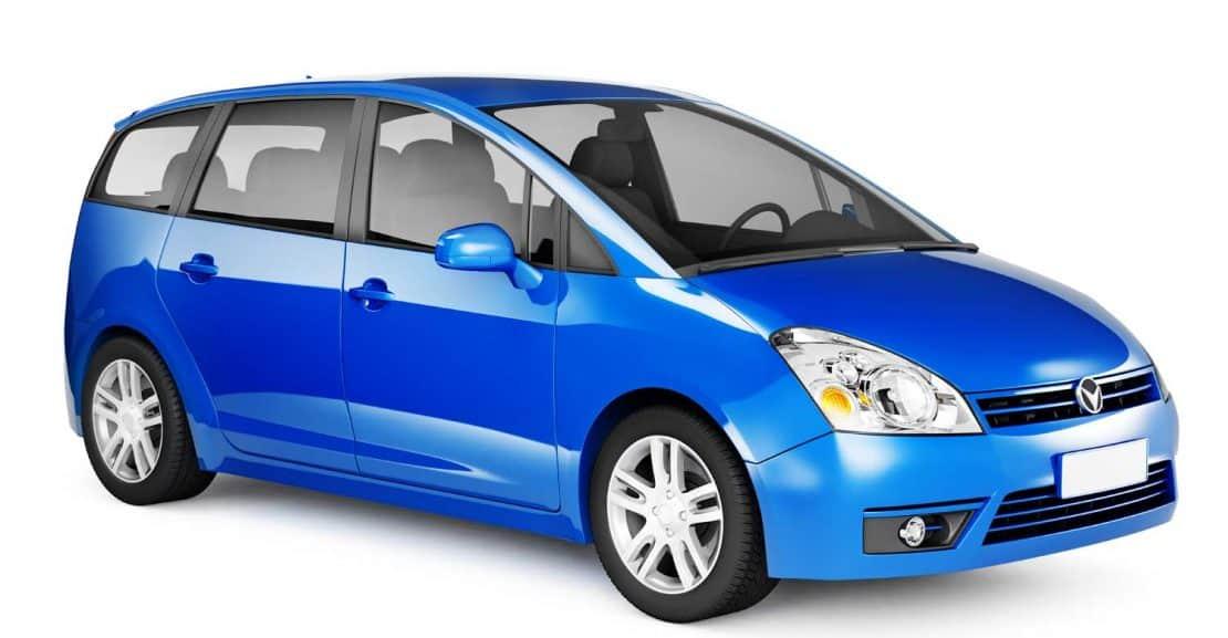 Blue Estate Car